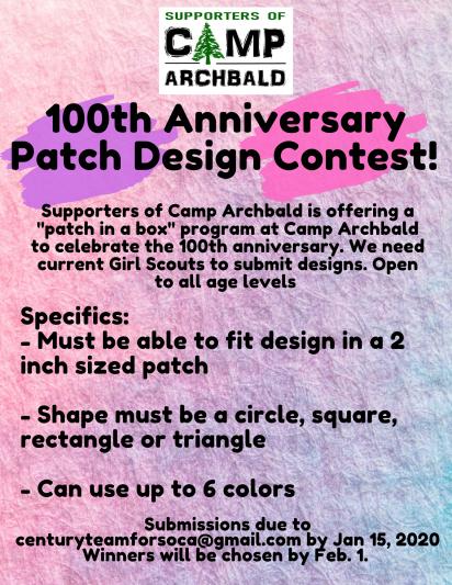 100 patch contest flyer
